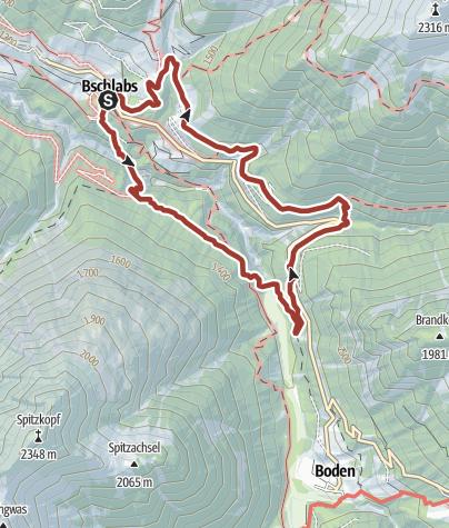 Karte / Weg der Sinne - Hölltalschlucht - Bschlabs