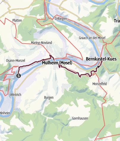 Map / Moselsteig Trail Stage 10: Kesten/Osann-Monzel – Bernkastel-Kues