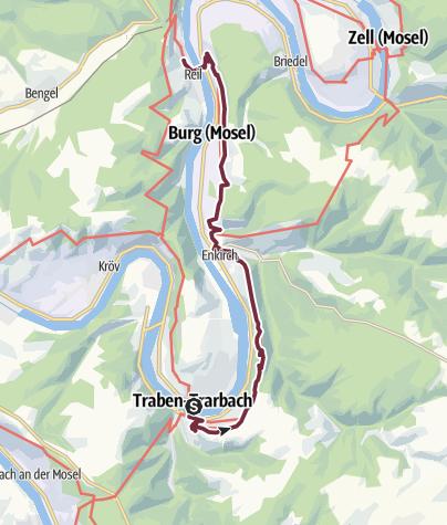 Karte / Moselsteig Etappe 13: Traben-Trarbach – Reil
