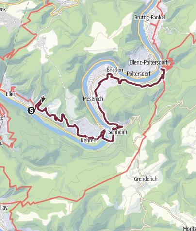 Karte / Moselsteig Etappe 17: Ediger-Eller – Beilstein