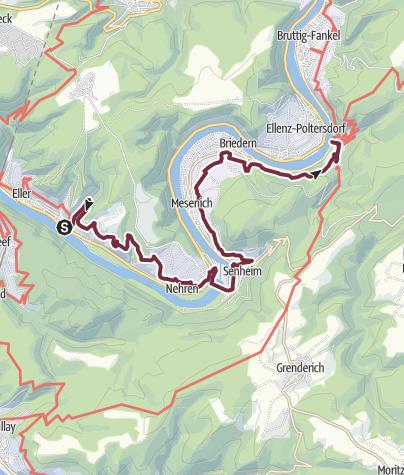 moselsteig karte Moselsteig Etappe 17: Ediger Eller – Beilstein • Fernwanderweg