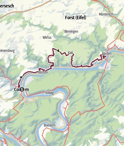 Karte / Moselsteig Etappe 19: Cochem – Treis-Karden