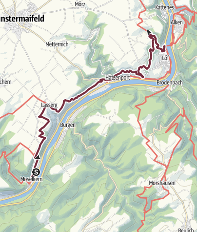 Map / Moselsteig Trail Stage 21: Moselkern – Löf