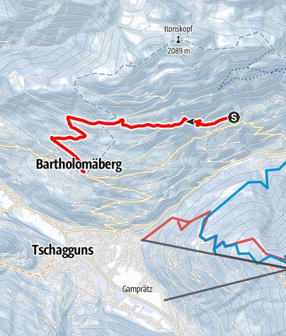 Karte / Von Innerberg über Fritzensee nach Bartholomäberg
