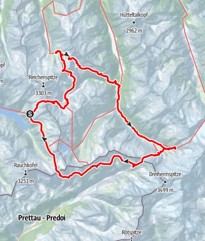 Karte / Dreiländertour am Tauernhauptkamm