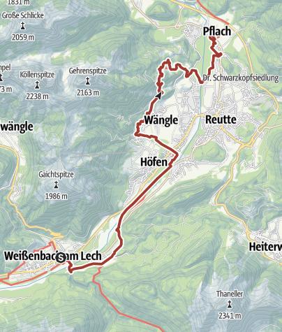 Lechweg Karte.Lechweg Etappe 7 Gemütlich Weißenbach Bis Pflach Themenweg