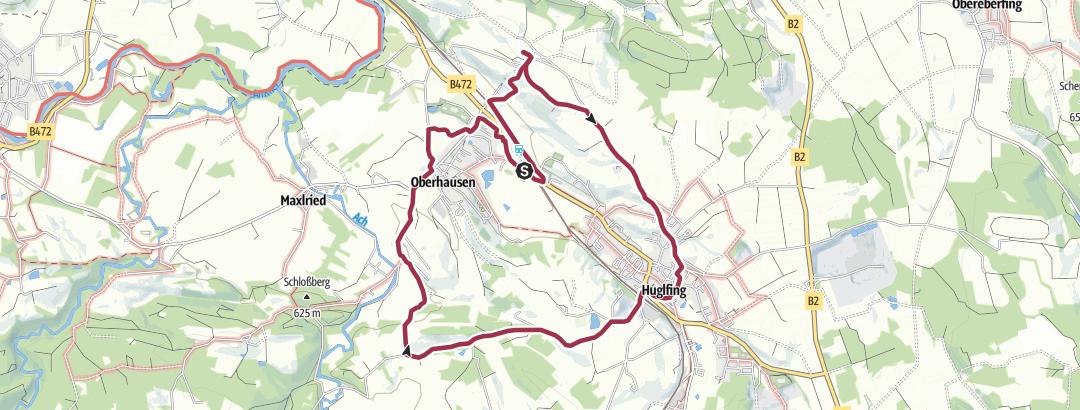 Karte / Durch Berg und Tal