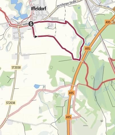 Karte / Kirchen-Rundweg Iffeldorf