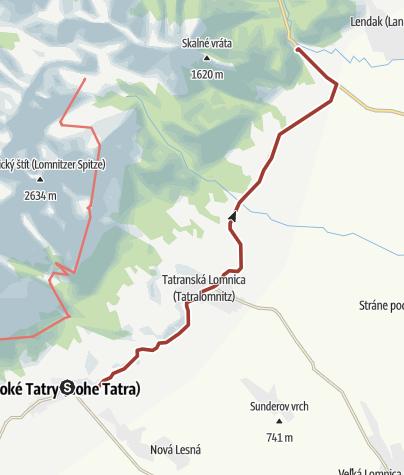 Map / Belianska cave