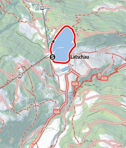Karte / Klettersteig Latschau