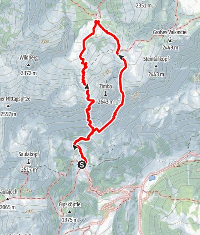 Karte / Klettersteig Neyerscharte