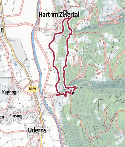 Karte / Naturerlebnisweg Hart im Zillertal