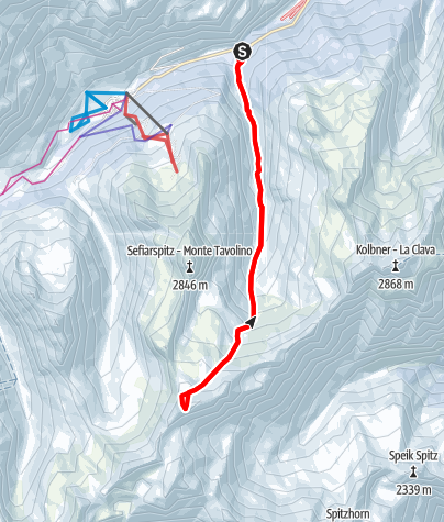Karte / Rötenspitz - Skitourengenuss in der Texelgruppe