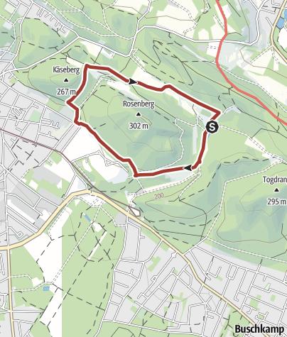 Kaart / Naturparktrail Bielefeld 3: Jahreszeiten im Buchenwald