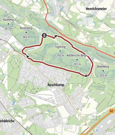 Kaart / Naturparktrail Bielefeld 4: Verborgene Zeitzeichen