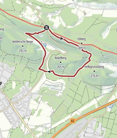 Map / Naturparktrail Bielefeld 5: Geologie - Steinbrüche als Zeitzeugen