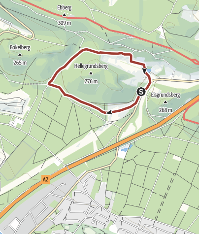 Kaart / Naturparktrail Bielefeld 6: Geologie - Steinbrüche als Zeitzeugen