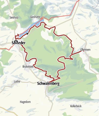 Map / Naturparktrail Schwalenberger Wald - Gesamtrundweg