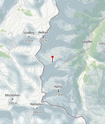 Karte / Einstieg Klettersteig Gargellner Köpfe