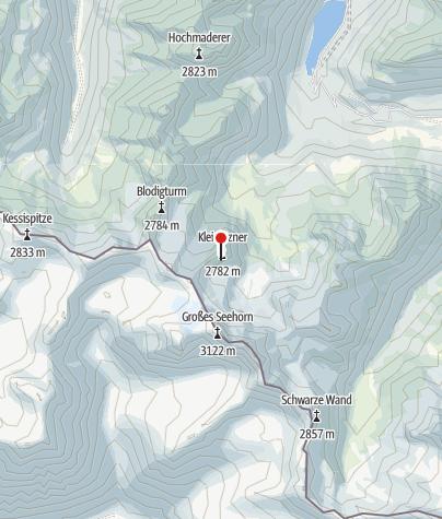 Karte / Einstieg Klettersteig Kleinlitzner