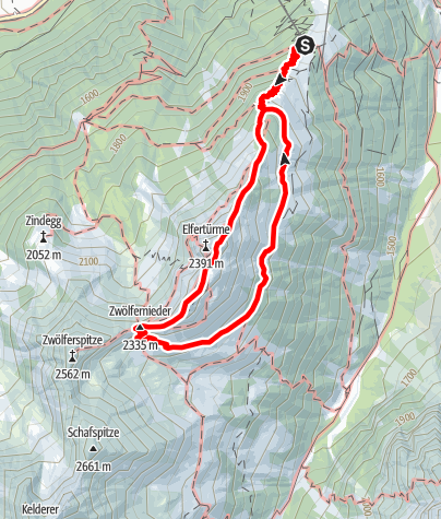Karte / Seven Summits - Elfer