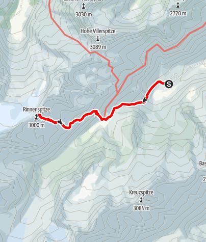Karte / Seven Summits - Rinnenspitze