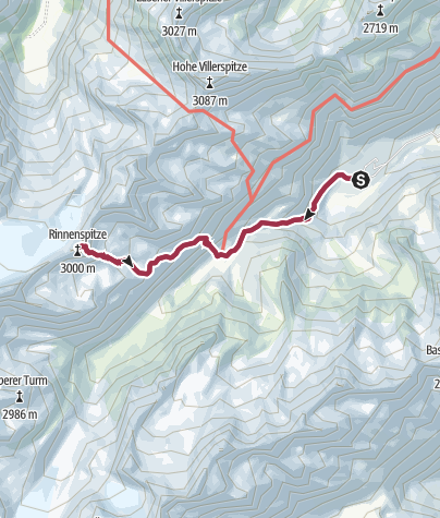 Cartina / Seven Summits - Rinnenspitze