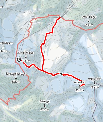 Karte / Seven Summits - Zuckerhütl