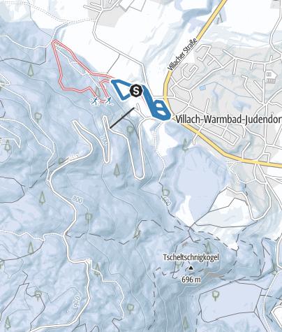 Karte / Langlaufen in der Villacher Alpenarena - Leicht