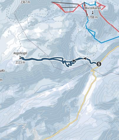 Karte / Angerkogel (2114 m) im Toten Gebirge vom Pyhrnpass