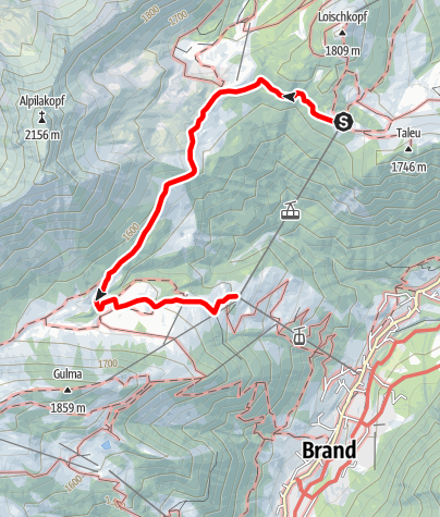 Karte / Natursprünge-Weg | Brandnertal