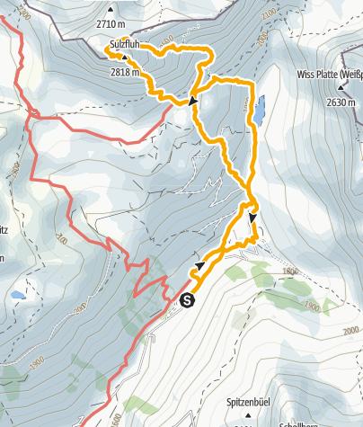 Karte / Klettersteig Sulzfluh Rätikon 2817 m