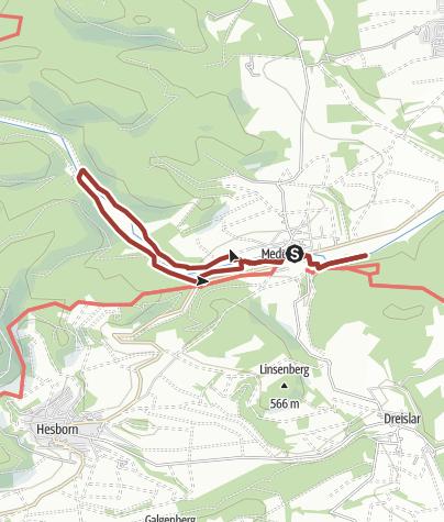 Karte / Orketal - Naturerlebnisweg bei Medebach-Medelon