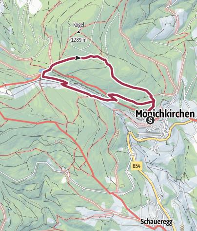 "地图 / ""Tut gut"" Route 1 - Rundwanderweg"
