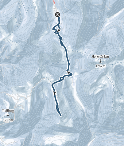 Karte / Hochwieskopf über Genneralm