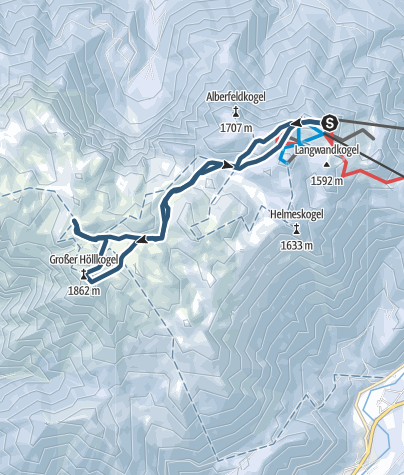 Karte / Rieder Hütte und Höllkogel Winteranstieg