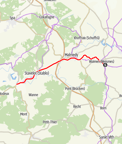 Karte / RAVeL L45 - Trois-Ponts - Waimes