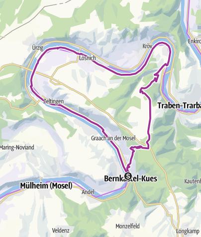Karte / eBike-Tour 2: Von der Mosel über die Graacher Schanzen nach Bernkastel