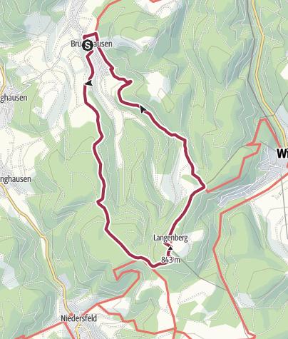 Karte / Langenbergrundweg (Qualitätstour)