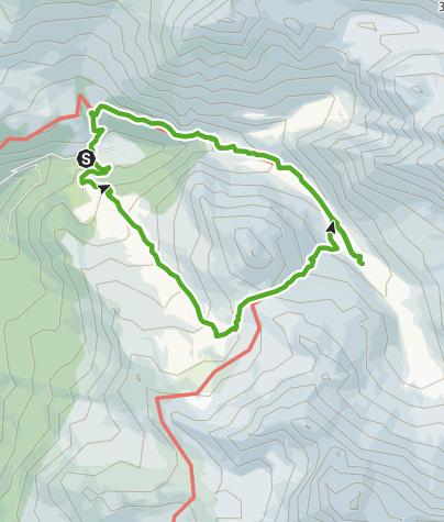 Map / Pensa - Furschela da Colm - Alp d'Err - Pensa