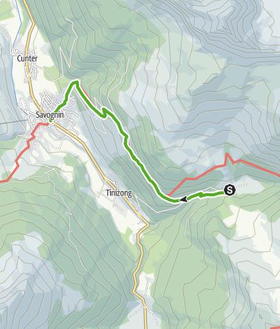 Map / Pensa - Savognin