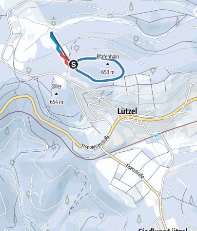 Map / Hilchenbach Lützel gelbe Loipe
