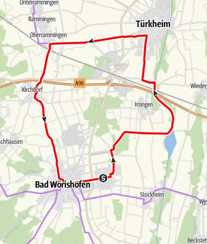 Karte / Rund um Bad Wörishofen über Türkheim