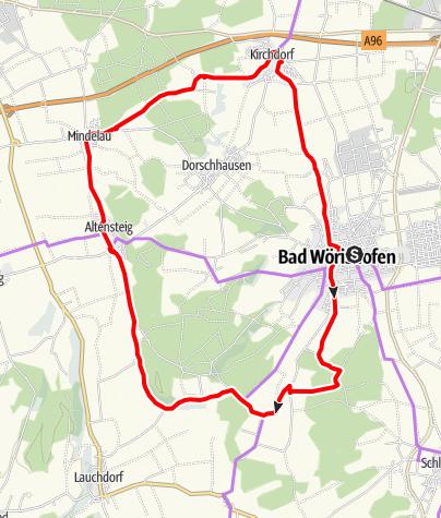 Karte / Rund um Bad Wörishofen über Hartenthal nach Osterlauchdorf