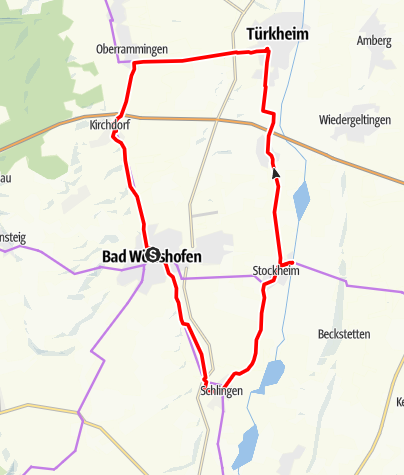 Karte / Rund um Bad Wörishofen zum Wildgehege