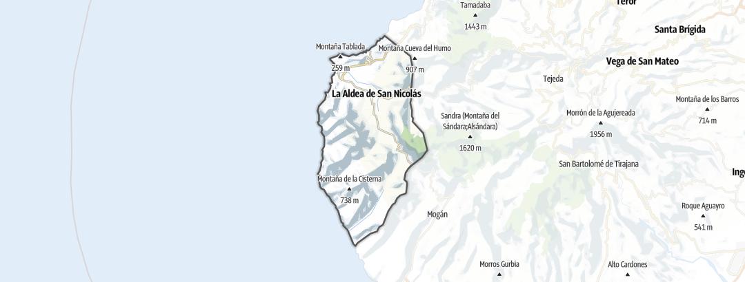 Kart / Vandring i La Aldea de San Nicolás