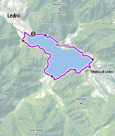 Cartina / Giro del Lago di Ledro