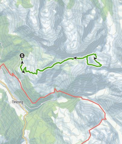 Map / Plang la Curvanera - Pass d'Ela - Plang la Curvanera