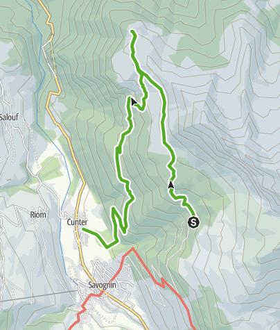 Map / Plang la Curvanera - Cunter