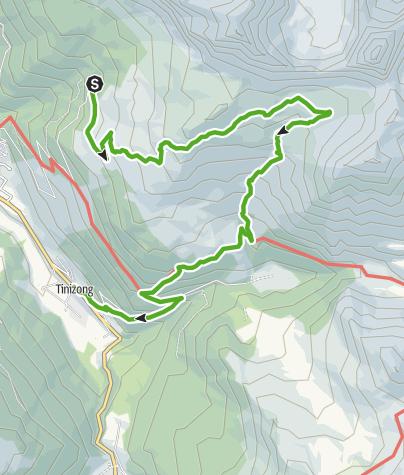 Map / Plang la Curvanera - Tinizong